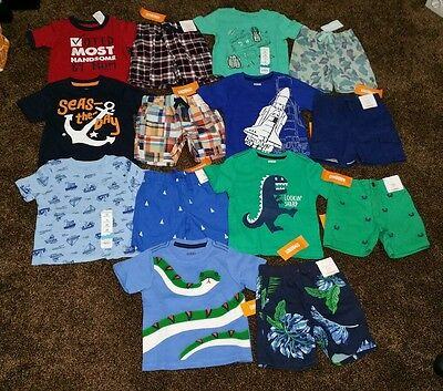 NWT Boys Size 12-18 Months Lot of Summer CLOTHES Outfits Gymboree snake rocket