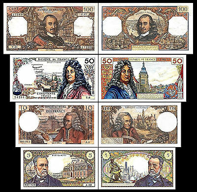 * * * 5, 10, 50, 100 Francs - Issue ND 1962 - 1979 - 4 Banknotes - 03 * * *