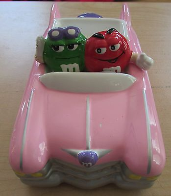 M&ms 2002 Rare Pink Cadillac Convertible Ceramic Car Candy Dish Galerie