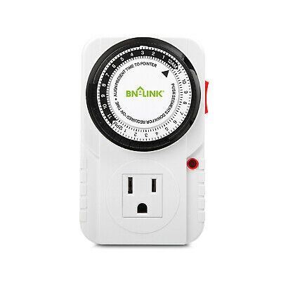 Century 24 Hour Plug in Mechanical Grounded Programmable Timer Indoor Heavy Duty