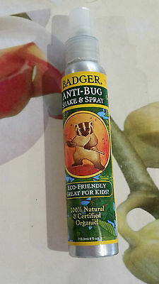 Badger Anti-Bug Shake & Spray-100% Natural, Eco-Friendly, Great for Kids 118.3ml