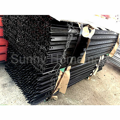 Black Y-Posts 1.65M Rural 'Y' Steel Fence Post Star Pickets