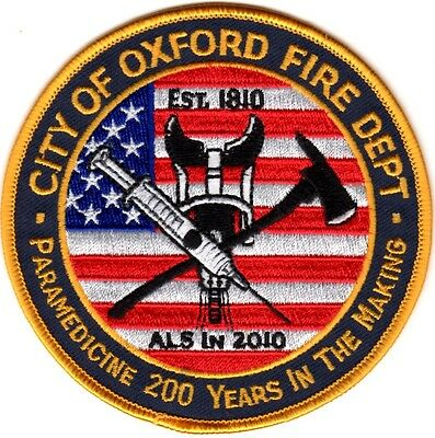 City of Oxford Fire Dept. Ohio Firefighter Patch NEW!!