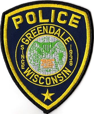 Greendale Police Wisconsin Patch   WI NEW!!