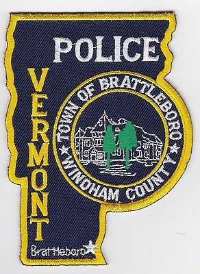 Town of Brattleboro Police Patch Vermont VT NEW
