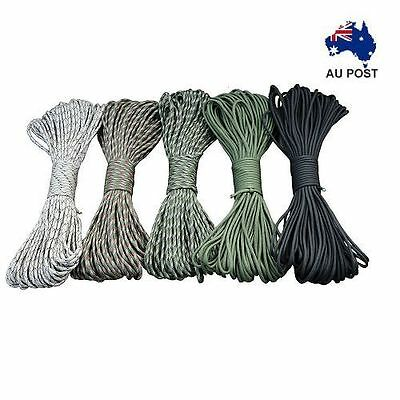 2x 50ft Military 9 Strand 550-600 Paracord,Army,Camping,Survival,Hunting,Fishing