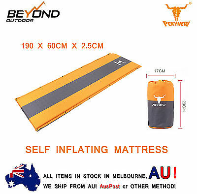 Self Inflating Mattress Sleeping Mat Air Bed Camping Camp Hiking Joinable