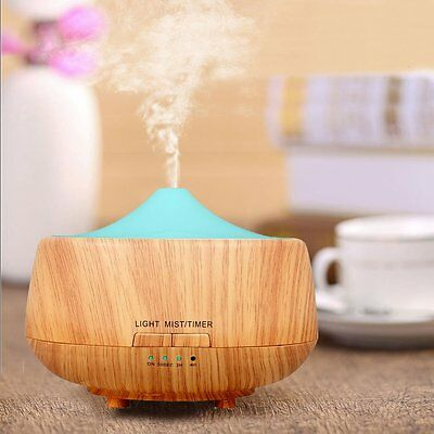 Ultrasonic Essential Oils Diffuser Aromatherapy Doterra Young Living Wood Grain