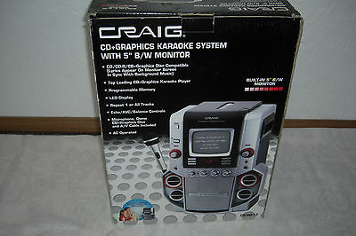 """Karaoke System CRAIG CDG Party Machine with 5"""" B&W Monitor NEW CG9017 Never Used"""
