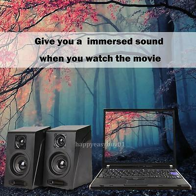 Mini Multimedia Stereo Computer PC Desktop Laptop Speakers Bass with Subwoofer