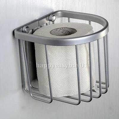New Space Aluminum Bath Bathroom Wall Mounted Toilet Paper Holder Basket