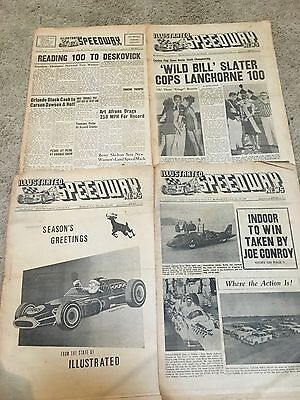 VINTAGE RACING PUBLICATION ILLUSTRATED SPEEDWAY NEWS 4 Issues From 1965