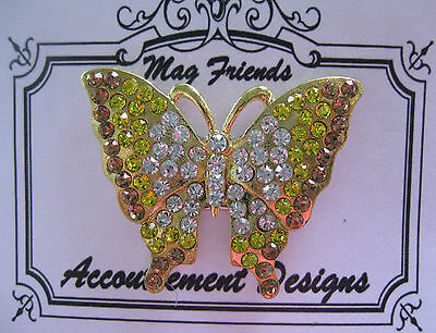 Accoutrement Designs Yellow Butterfly Needle Minder Magnet Mag Friends