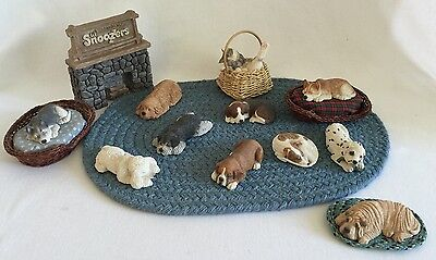 Sandicast Lil' Snoozers Dogs RETIRED Dalmation Shar Pei Golden Retriever & More