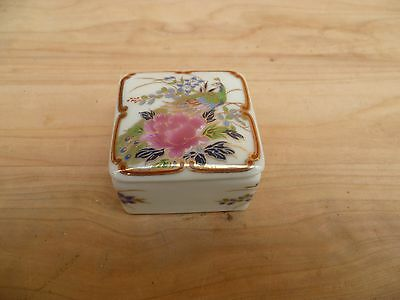 Vintage Old Asian Style China Small Trinket, Jewellery Box (A779)