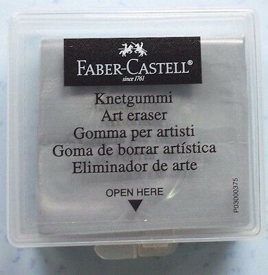 Faber Castell 1 pc Rubber Art Eraser Kneadable Putty Charcoal Pencil Pastel