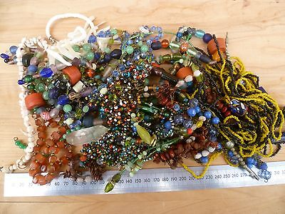 Vintage Old Bulk, Collection Of Costume, Dress Jewellery Large Lot (A662)