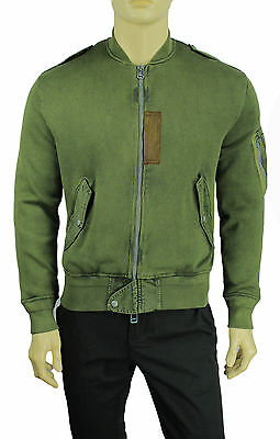 0d2869404 New Mens Polo Ralph Lauren Distressed Olive Cotton Bomber Jacket S  395
