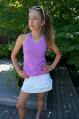 Lucky In Love Girls Scallop Tennis Skirt Size 10, 12, 14 - Tennis Activewear