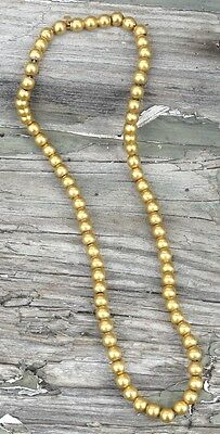 Vintage 10k Yellow Gold Bead Strand Choker Necklace 1920s