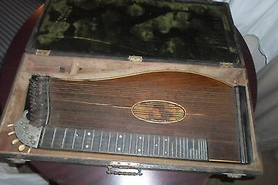 Antique ca 1890 German Zither w/ original case **Worldwide**