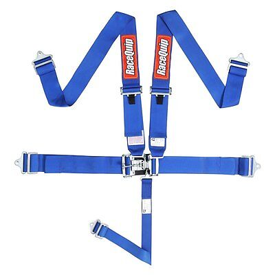 Racequip  5 point harness , BLUE ,nascar latch, CURRENT DATE  ,speedway ,buggy