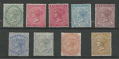 BERMUDA SG21-9 THE 1883-1904 QV SET INC SHADE OF 1d MOUNTED MINT CAT £240+