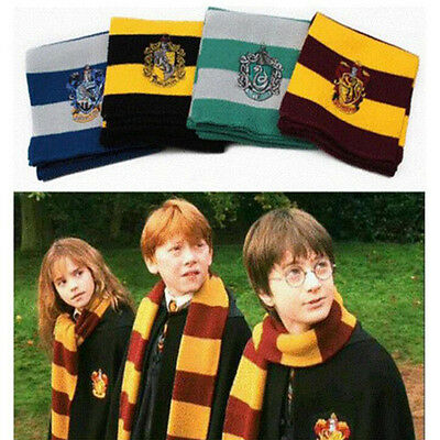 Harry Potter Gryffindor Slytherin Hufflipuff Ravenclaw Cosplay Costume Scarves
