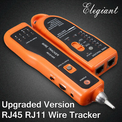 ELEGIANT Telephone Lan Network RJ45/11 Tester Tracker Cable Wire Finder Tracer