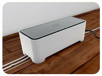 Cable Tidy Box Extension Wire Charger Storage Electronic Organiser Arranger Dock