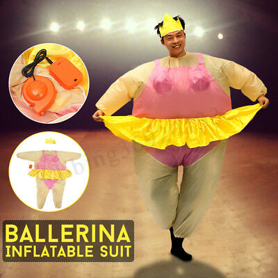 Inflatable Ballerina Fancy Dress Costume Fat Suit Night Dancer Outfit Party Toys