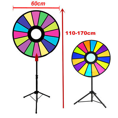 "24"" Prize Wheel Prize Wheel Fortune Spinning Game with Floor Stand Multicolor"