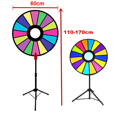 Dia 60cm Prize Wheel Editable Dry Erase Color Fortune Spinning Game Floor Stand