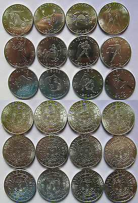 """Somaliland 2012 Set of 12 coins 10 shillings """"Zodiac Series - Months"""" UNC"""