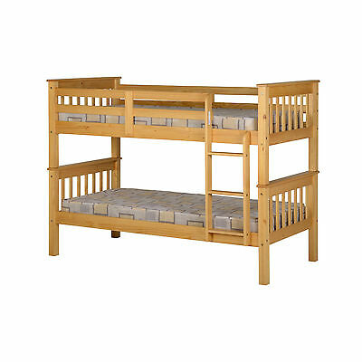 Neptune Bunk Bed Single, White, Single, Oak