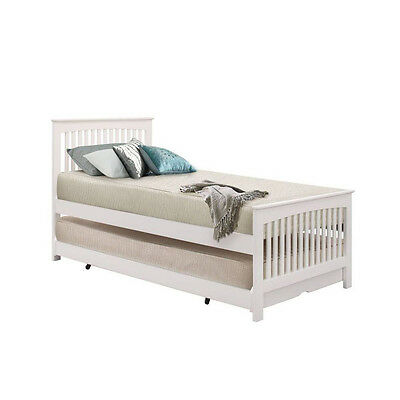 Torino Guest Bed Single, Oak, Single, White