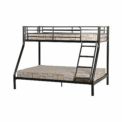 Tandi Triple Sleeper Bunk Bed Black, Silver