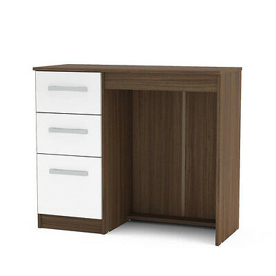 Lynx 3 Drawer Dressing Table Black Grey White Walnut Cream