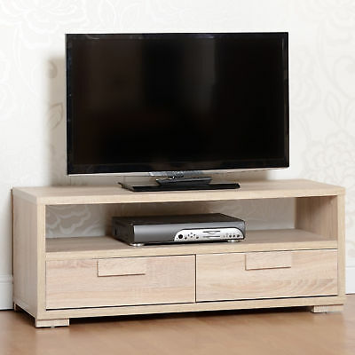 Cambourne 2 Drawer Flat Screen Tv Unit Light Sonoma Oak