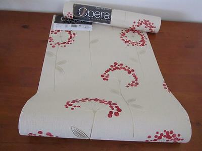 2 Rolls ARTHOUSE OPERA WALLPAPER Carmen Floral Red 10m Each