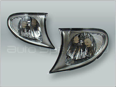 DEPO Clear Corner Lights Parking Lamps PAIR fits 2002-2005 BMW 3-Series E46 4DR