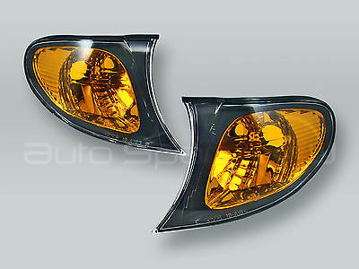 TYC Amber Corner Lights Parking Lamps PAIR fits 2002-2005 BMW 3-Series E46 4DR
