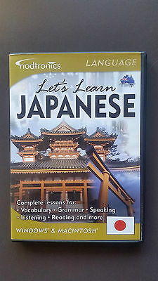 Nodtronics Let's Learn Japanese interactive PC CD-ROM