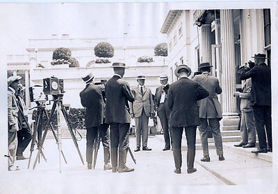 1923 Vintage Photo President Coolidge & Cabinet At White House