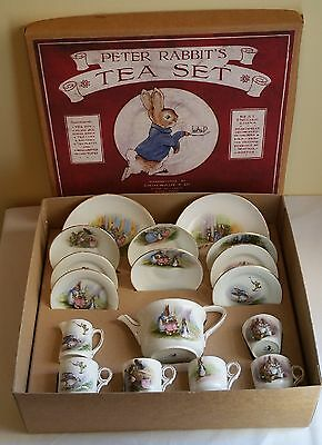 Rare Grimwades Beatrix Potter Peter Rabbit Teaset  Boxed Ca 1925