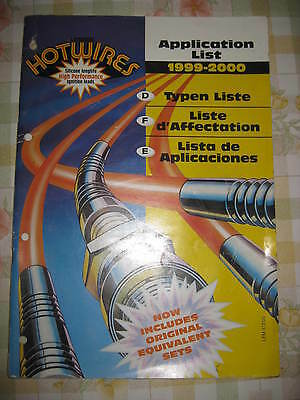 Hotwires Ignition Leads - Parts Catalogue / Application Book - 1999-2000