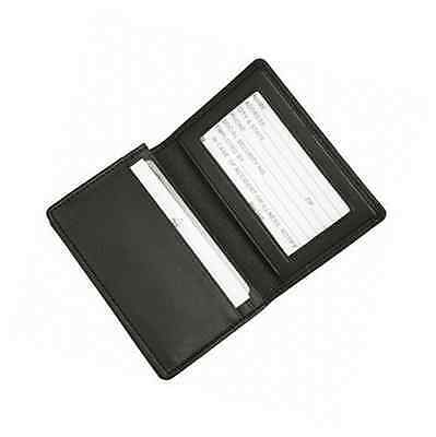 Royce Leather Executive Business Card Case in Genuine Leather - Black
