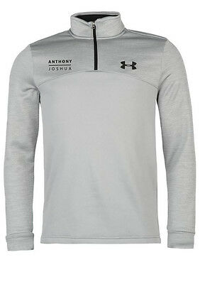 Anthony Joshua Authentic Grey Under Armour Icon Quarter Zip Top in X-LARGE