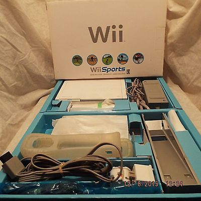 Nintendo WII Sports White Video Game System Console Wii And Wii Fit Plus Bundle