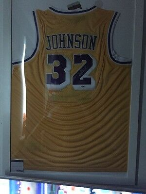 Magic Johnson Hand Signed And Framed Jersey